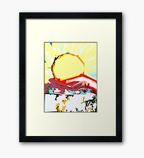 BRINGING IN THE NEW YEAR Framed Print
