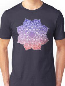 Mandala orange purple pastel Unisex T-Shirt