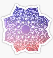 Mandala orange purple pastel Sticker