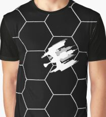 Ship Over Hex Board - White Graphic T-Shirt
