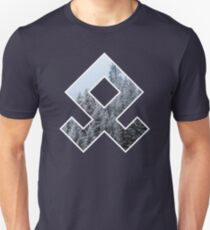Forested Odal Rune Unisex T-Shirt