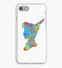 Colorful Watercolor Peter Pan Quote  - To Live iPhone Case/Skin