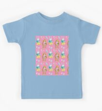 Easter bunnies cute watercolour design with white rabbit and brown bunny in yellow, green and pink. Kids Clothes