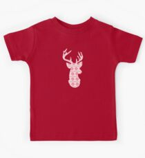 Winter Knit Reindeer Kids Tee