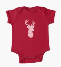Winter Knit Reindeer One Piece - Short Sleeve