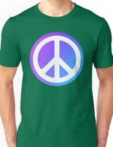 Peace Sign blue purple Unisex T-Shirt