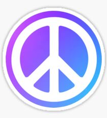 Peace Sign blue purple Sticker