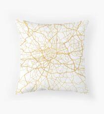 LONDON ENGLAND CITY STREET MAP ART Throw Pillow
