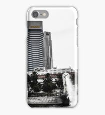 Fullerton Hotel and the Merlion iPhone Case/Skin