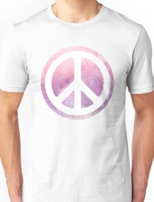 peace sign pink purple watercolor Unisex T-Shirt