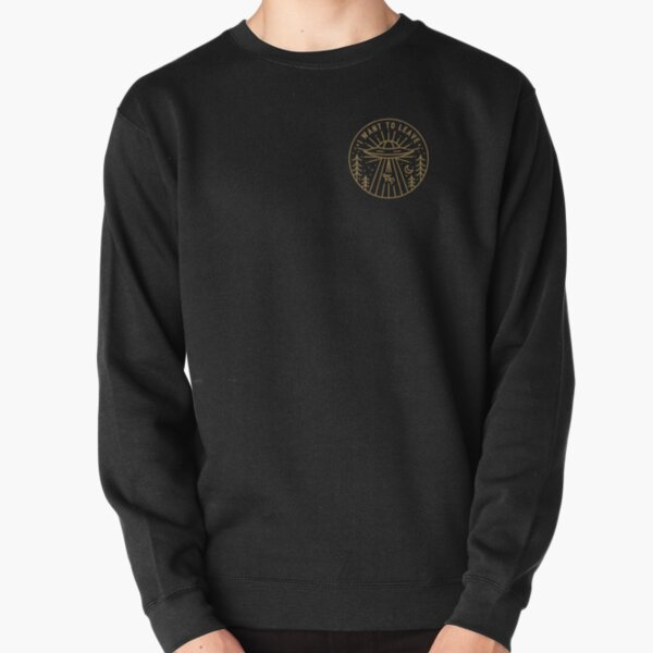 I Want To Leave - Pocket Pullover Sweatshirt