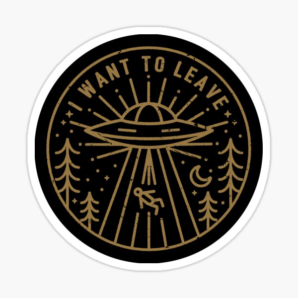 I Want To Leave - Pocket Sticker