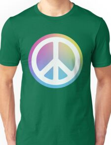 peace sign rainbow Unisex T-Shirt