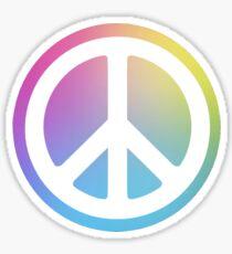 peace sign rainbow Sticker
