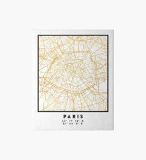PARIS FRANCE CITY STREET MAP ART Art Board