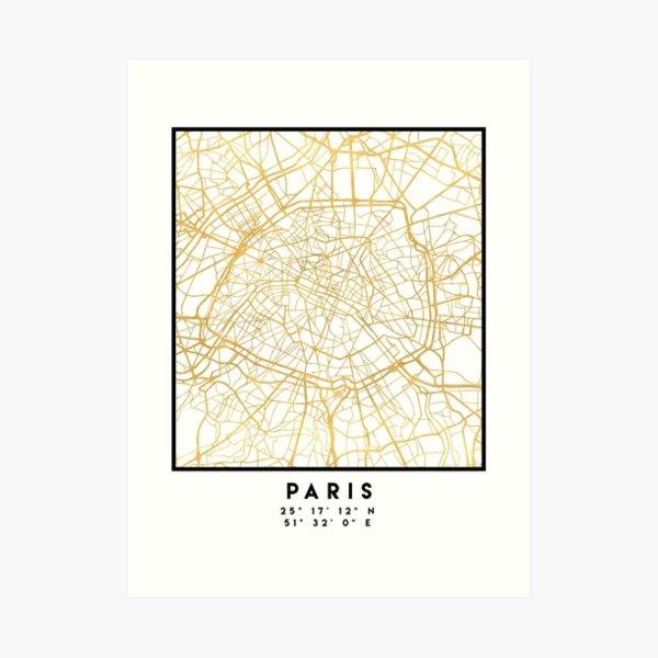 Frankreich in Gold Kunstdruck
