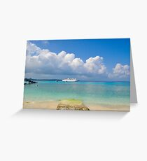 Ship in the Ocean Greeting Card