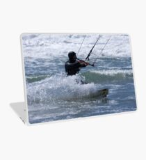 Kitesurfing in the Ocean - Coming Back to Shore Laptop Skin