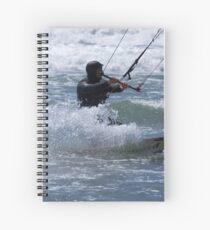Kitesurfing in the Ocean - Coming Back to Shore Spiral Notebook