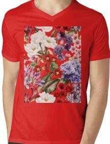 Flower garden Mens V-Neck T-Shirt