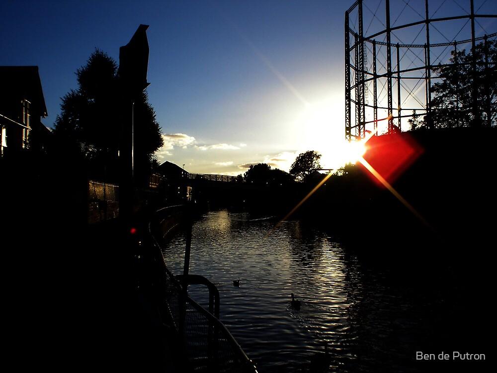 The Gasworks at Sundown by Ben de Putron
