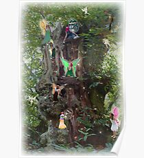 Gnarly Fairy Tree Poster