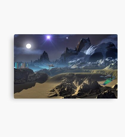 Krill City/Stardock. Canvas Print