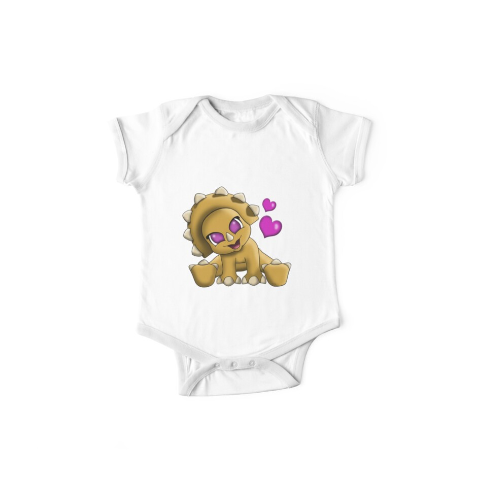 Baby Triceratop Floral by treasured-gift