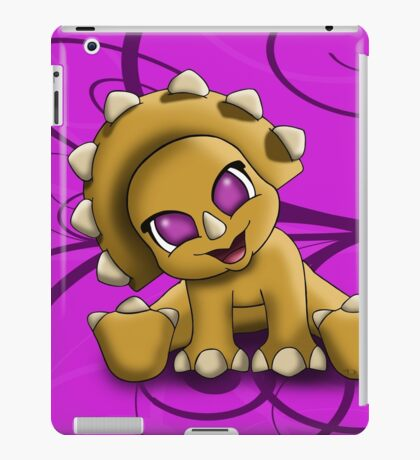 Baby Triceratop Floral iPad Case/Skin
