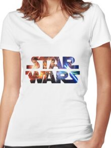 Star Wars Women's Fitted V-Neck T-Shirt