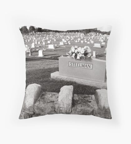 Cemetery, Fayettville Tennessee Throw Pillow
