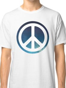 peace sign starry night sky Classic T-Shirt