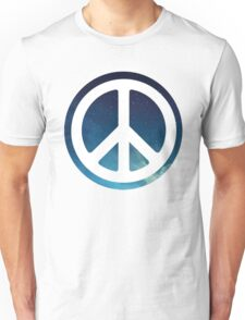 peace sign starry night sky Unisex T-Shirt