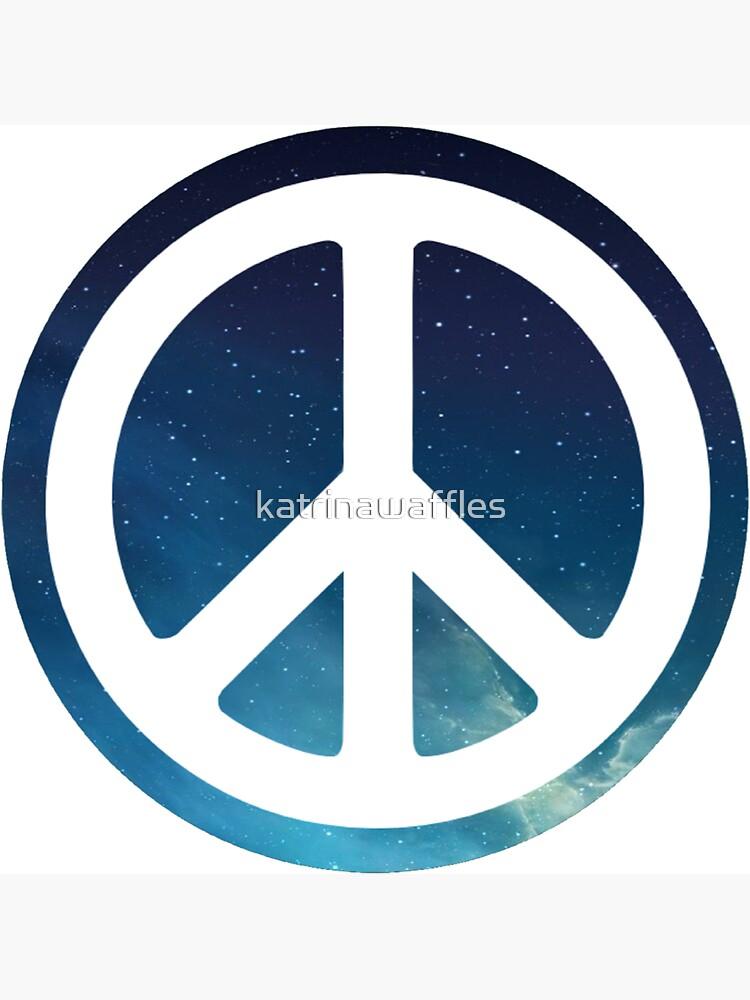 peace sign starry night sky by katrinawaffles