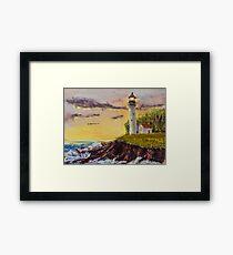 Rough Seas - Pastel Painting Framed Print