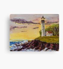 Rough Seas - Pastel Painting Canvas Print