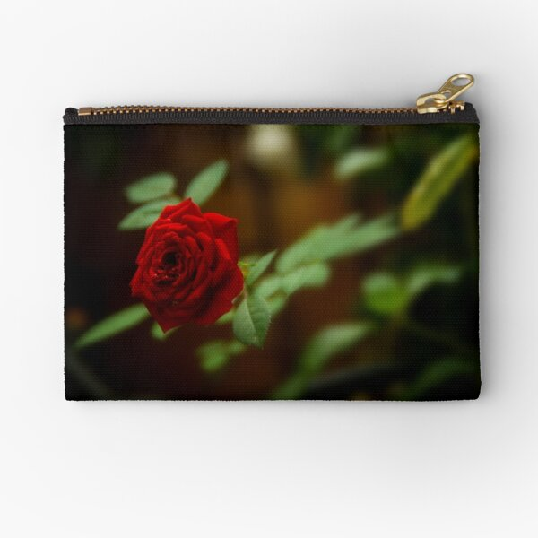 small red rose Zipper Pouch