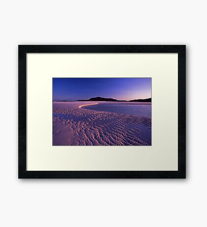 Tidal art - Hill inlet, Nth Qld Framed Print