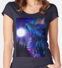 Howling Wolf Spirit 3 Women's Fitted Scoop T-Shirt