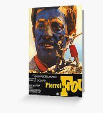 Pierrot le Fou - Il bandito delle ore undici - Jean Luc Godard Greeting Card