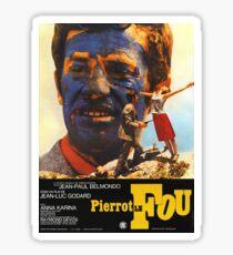 Pierrot le Fou - Il bandito delle ore undici - Jean Luc Godard Sticker