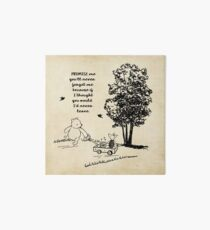 Winnie the Pooh - Promise Me You'll Never Leave Art Board