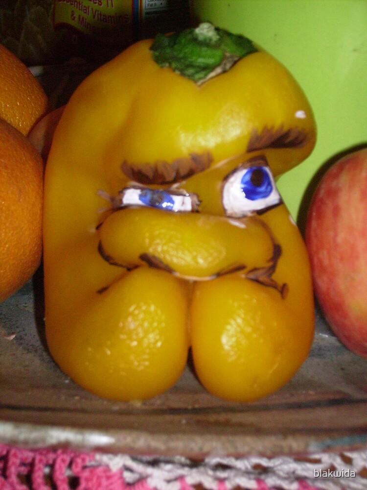 grumpy pepper by blakwida