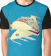 Taco Fighter Jet Graphic T-Shirt