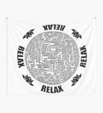 Meditation Yoga Relax Design Wall Tapestry