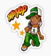 Hip Hop Lady Sticker