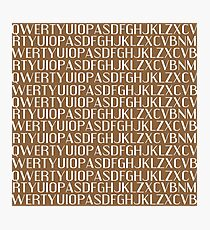 QWERTY - TEXT Photographic Print