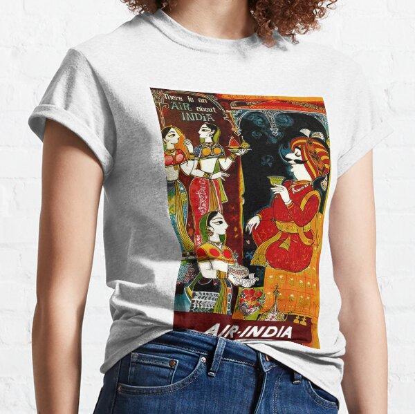 AIR INDIA: Vintage Air Travel Advertising Print Classic T-Shirt