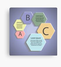abstract business template Canvas Print