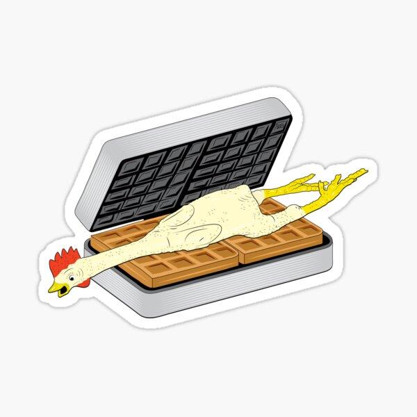 Rubber Chicken & Waffles Sticker